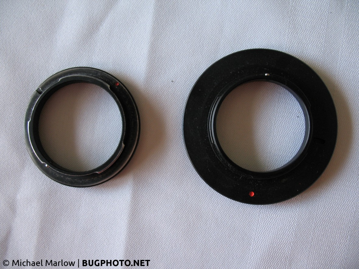 52mm and 67mm threaded reverse lens adapters