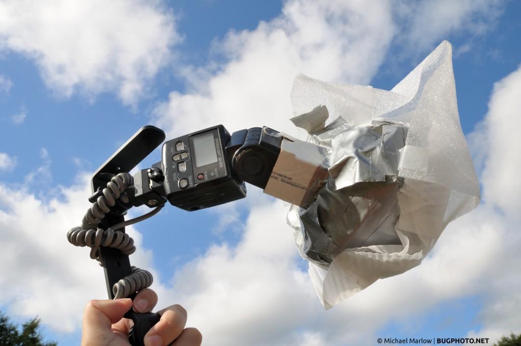 DIY flash diffuser on Nikon SB-600 flash speedlight