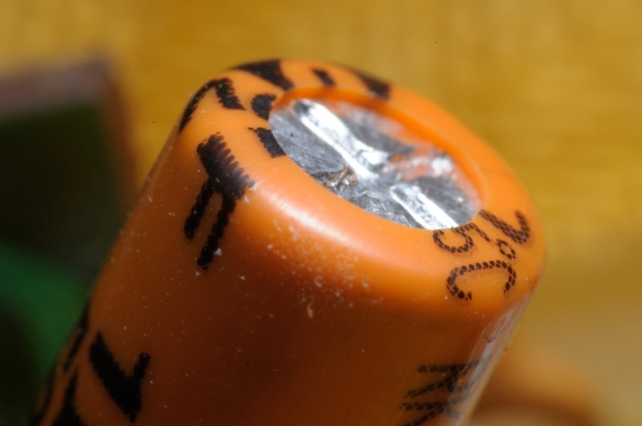 orange covered transistor
