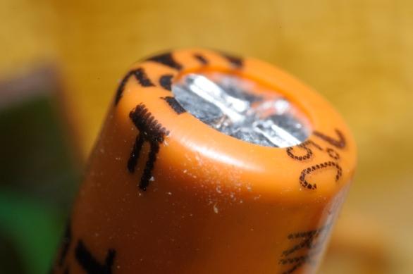 orange covered transistor