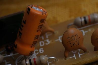 transistors on a small circuit board