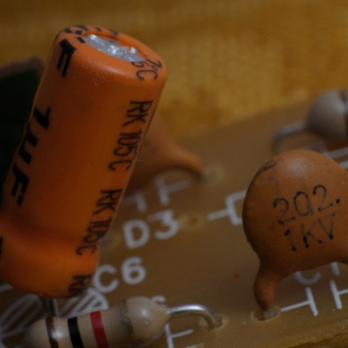 transistors on a small circuit board