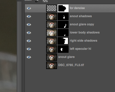 screenshot of gimp layers dialog