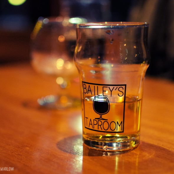 Glass of Cider at Bailey's Taproom in Portland, Oregon.